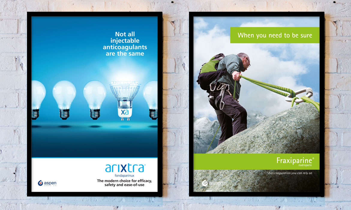 Rainmaker Advertising - Aspen - Arixtra & Fraxiparine Posters