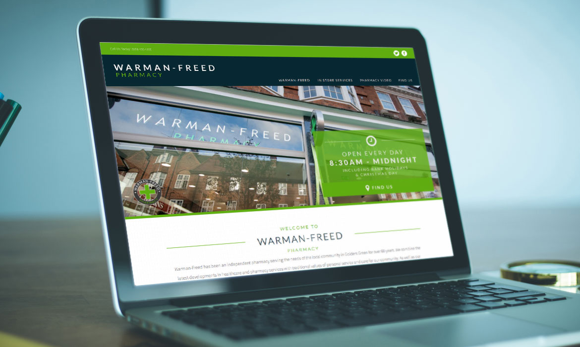 Rainmaker Digital - Perrigo - Warman-Freed Pharmacy Website